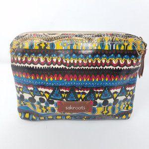 Sakroots bag for makeup fun geometric pattern